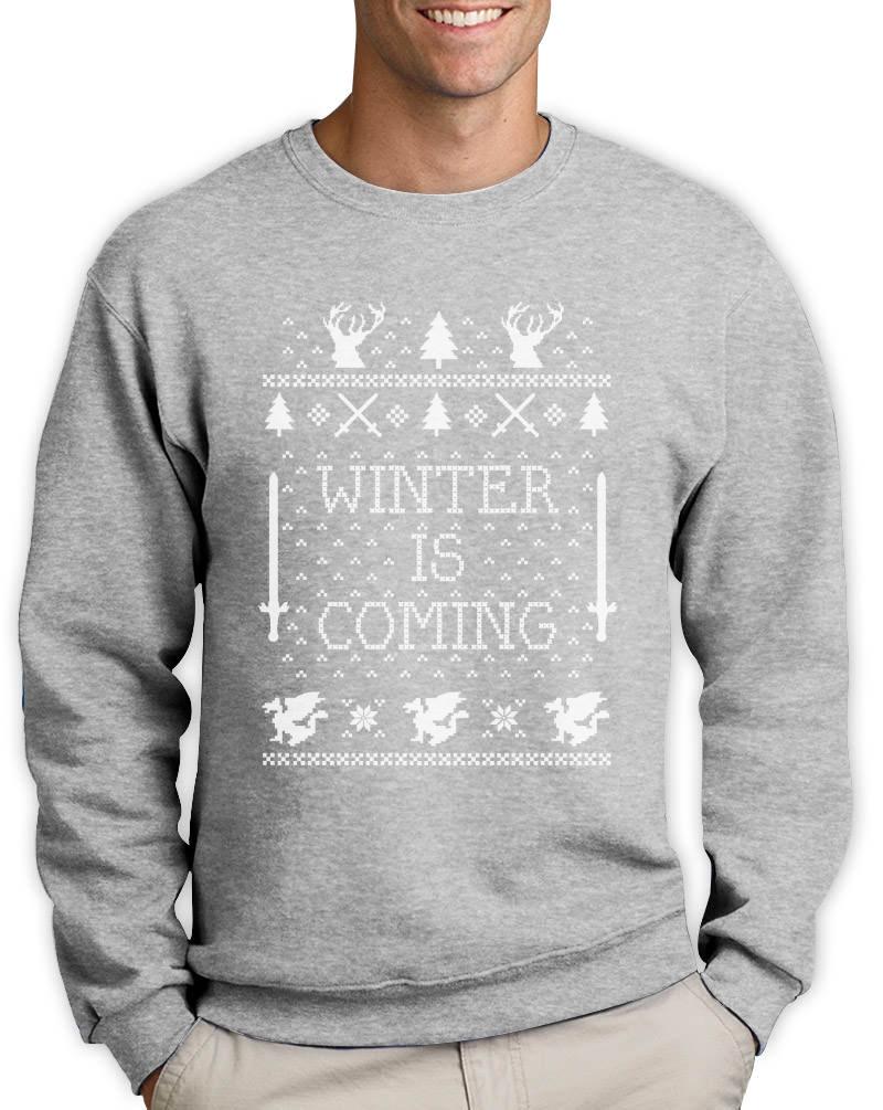 Top Winter Is Coming Ugly Christmas Sweater Thrones Fan Sweatshirt GOT  HZ63
