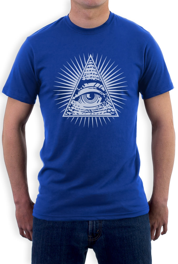all seeing eye t shirt illuminati don 39 t trust anyone. Black Bedroom Furniture Sets. Home Design Ideas