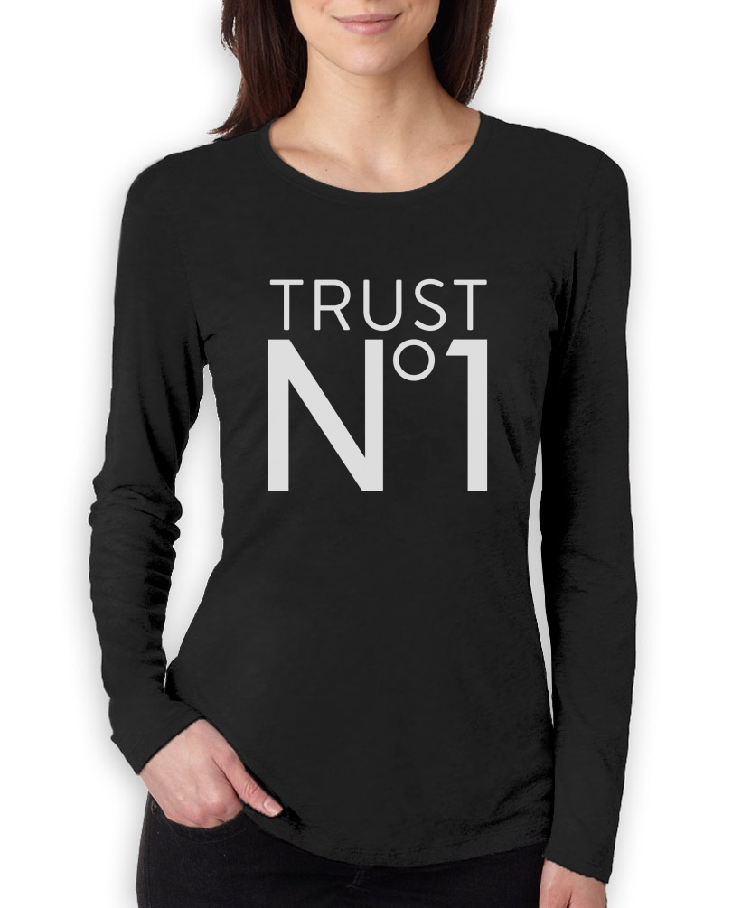 Trust No1 Women Long Sleeve T-Shirt Hipster Swag Fashion Style Hip Hop Party