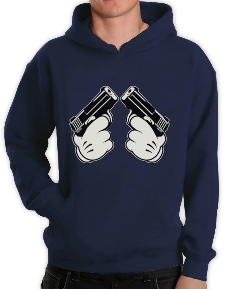 mickey gun hands hoodie hip hop most dope gang fresh cali. Black Bedroom Furniture Sets. Home Design Ideas