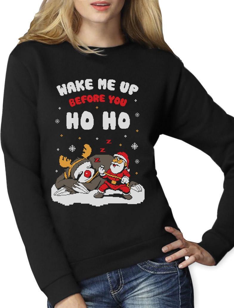Merry Christmas Sloth Funny Santa Ho Xmas Gift Men Women Top Unisex T Shirt 2358