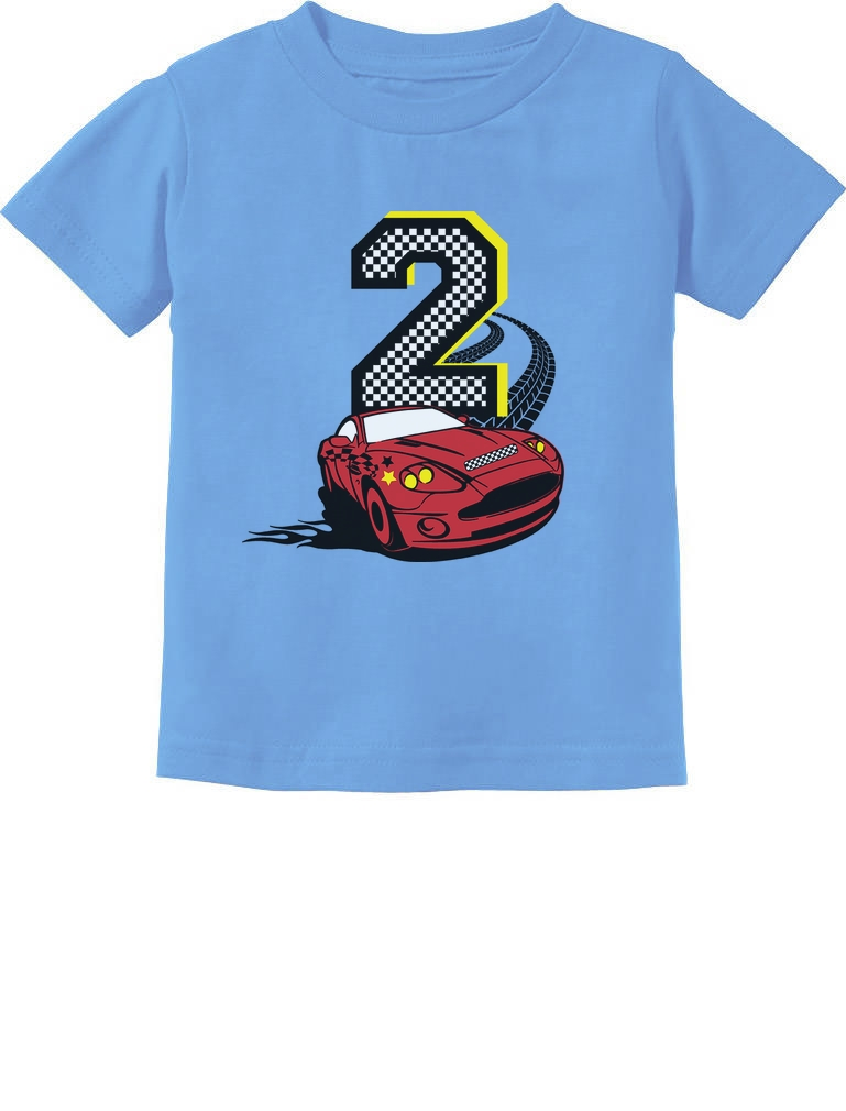 2nd Birthday 2 Year Old Boy Race Car Party Toddler T Shirt Youre Bidding On A Fine Kids Made Of 100 Combed Cotton High Quality