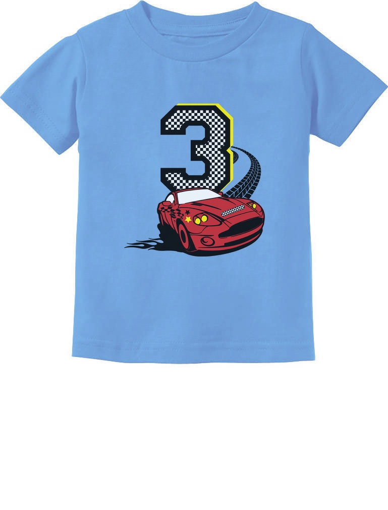 Kids 3 Years Old Birthday T Shirt Party 3rd Boy Girl