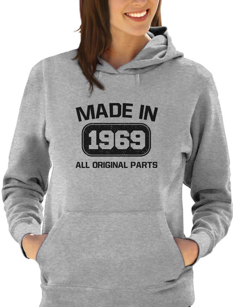 50th Birthday Made in 1969 All Original Parts Women Hoodie