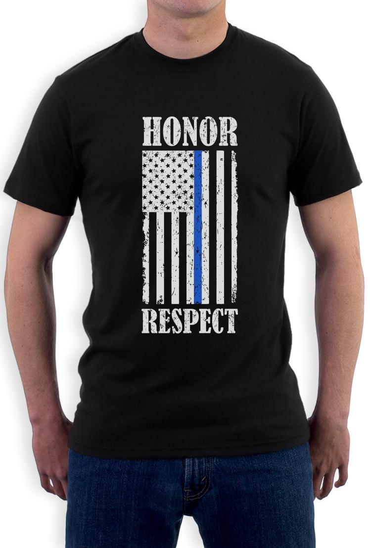 thin blue line american flag honor respect policemen gift. Black Bedroom Furniture Sets. Home Design Ideas