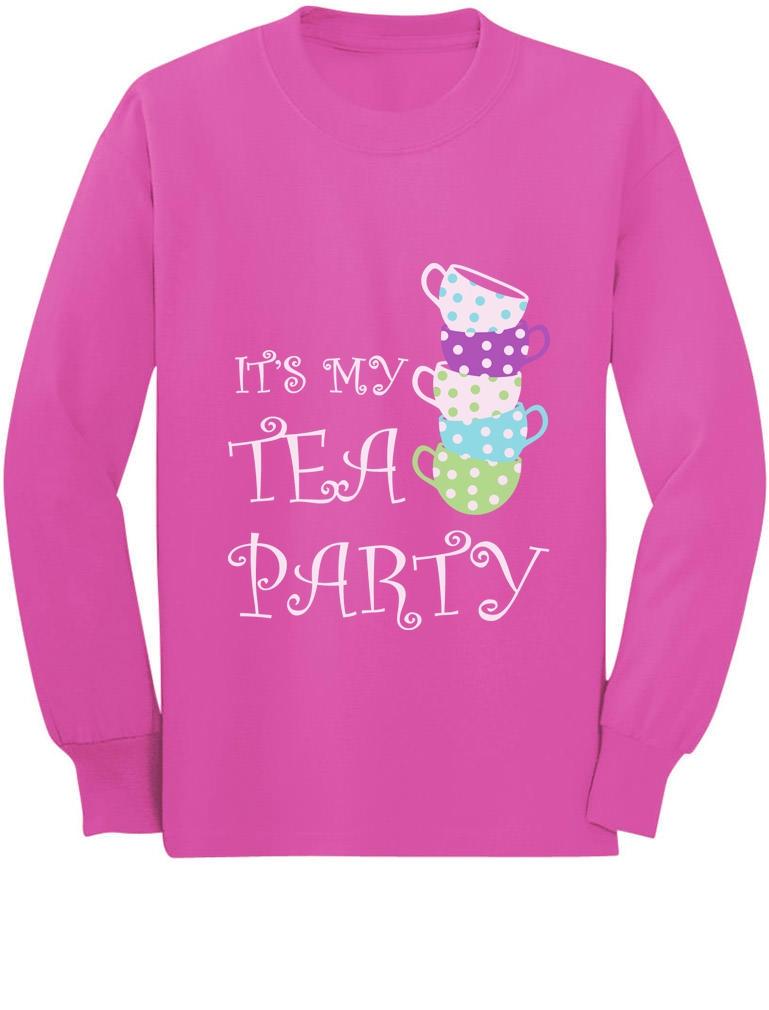 Birthday Gift for little Girls Tea Party Toddler//Kids Long sleeve T-Shirt