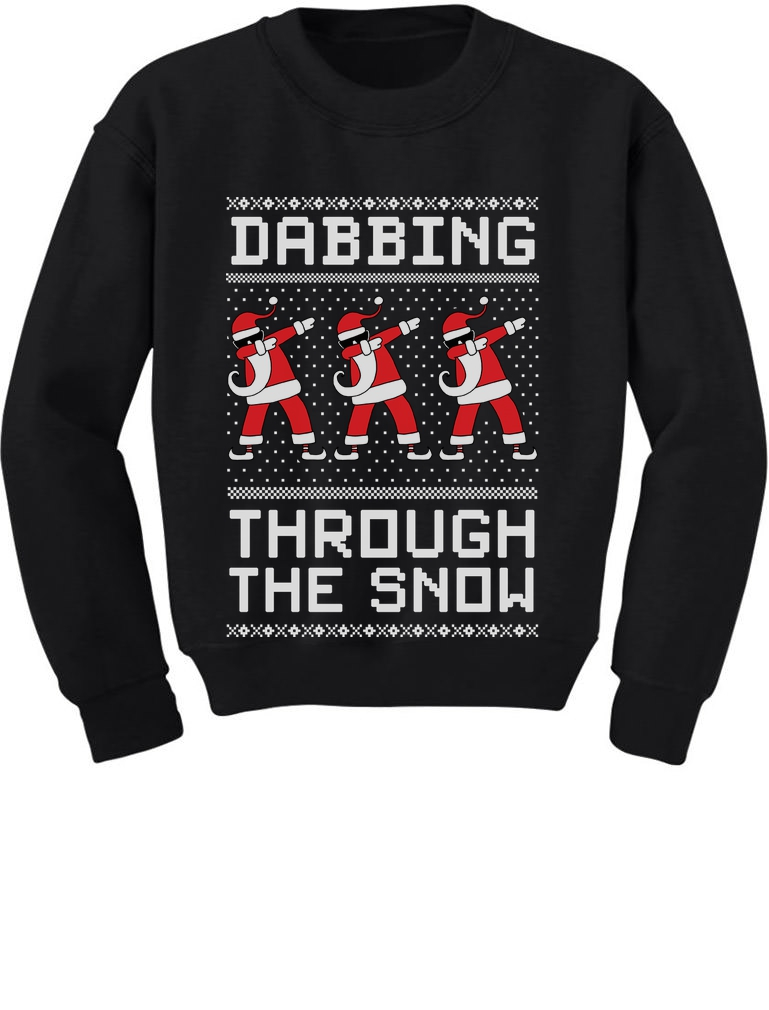 Dabbing Santa Funny Ugly Christmas Party Girls/' Fitted Kids T-Shirt Gift Idea