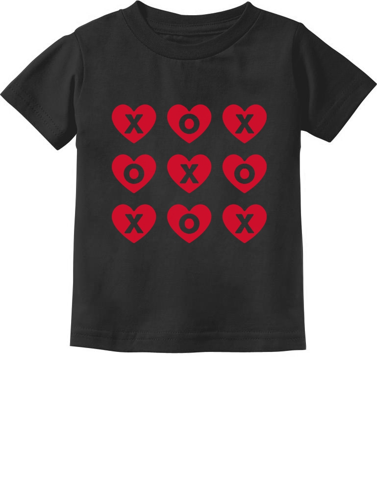 XOXOXO Valentine/'s Day Hearts /& Kisses 3//4 Sleeve Baseball Jersey Toddler Shirt
