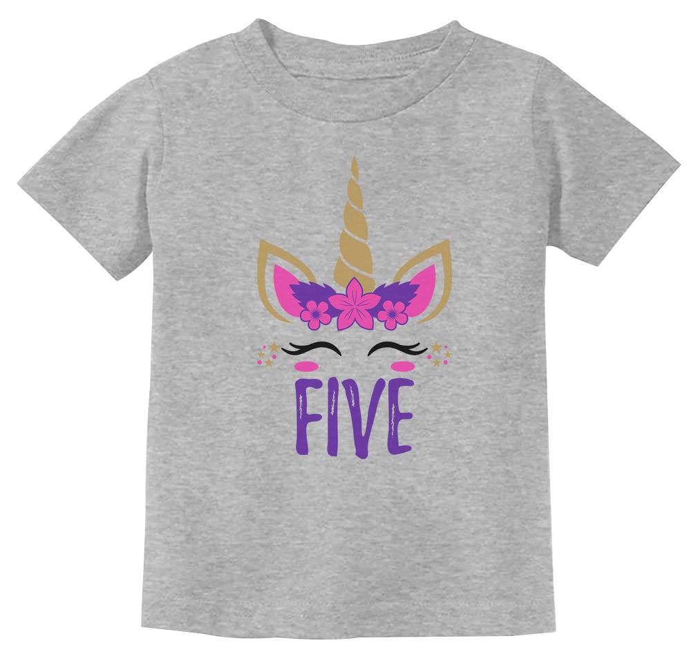 Tstars 5th Birthday Gift for 5 Year Old Child 3//4 Sleeve Baseball Jersey Toddler Shirt