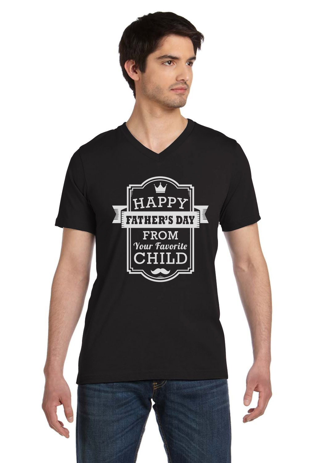 happy father u0027s day favorite child gift from son daughter v neck