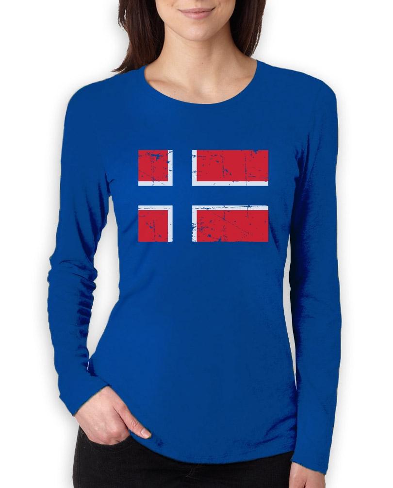 Norway Flag Vintage Style Retro Norwegian Women Sweatshirt Gift Idea