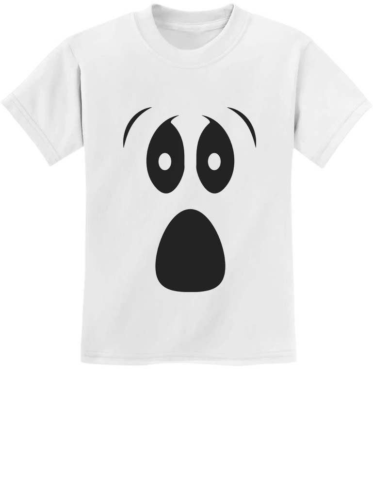 Halloween Ghost Costume Funny Ghoul Face Toddler//Infant Kids T-Shirt Spooky