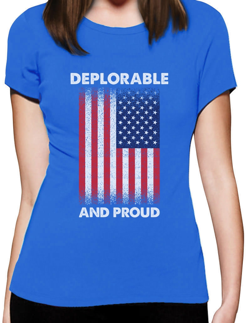 Deplorable and Proud Deplorable Americans Hoodie USA Flag