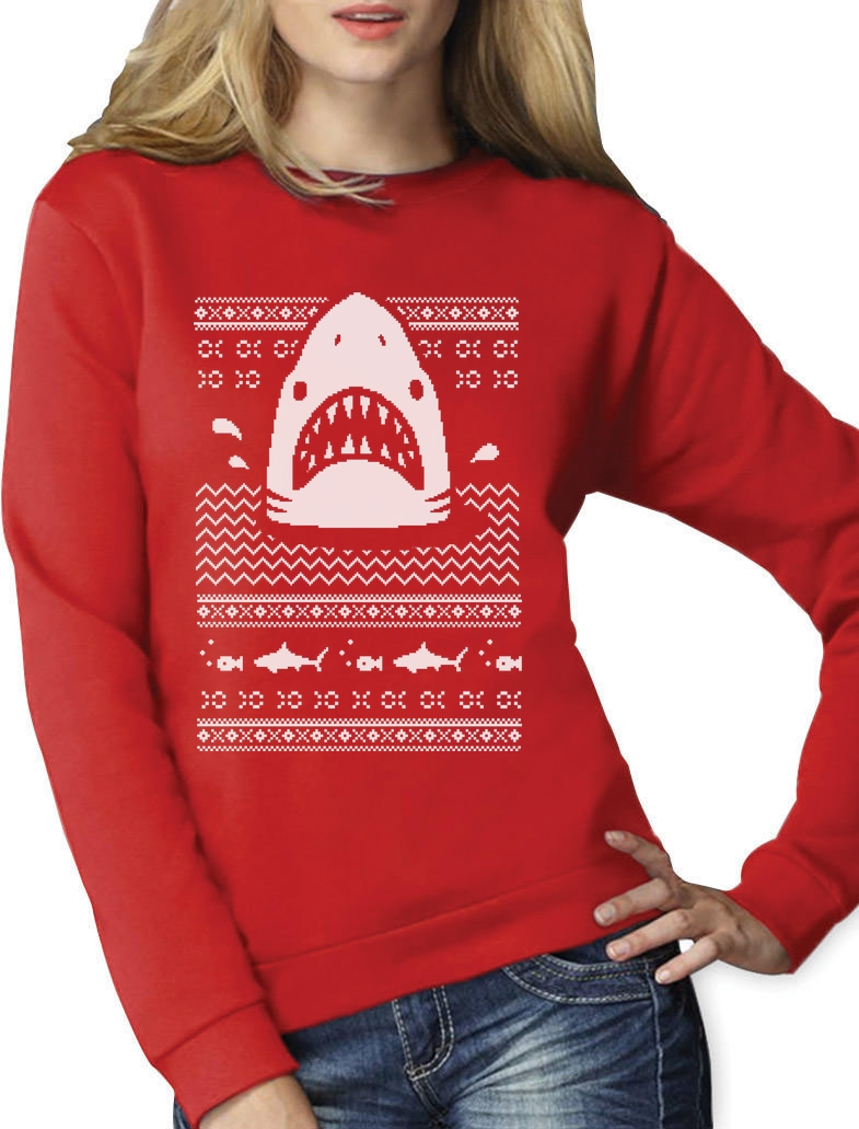 Great White Shark Ugly Christmas Sweater T-Shirt Gift
