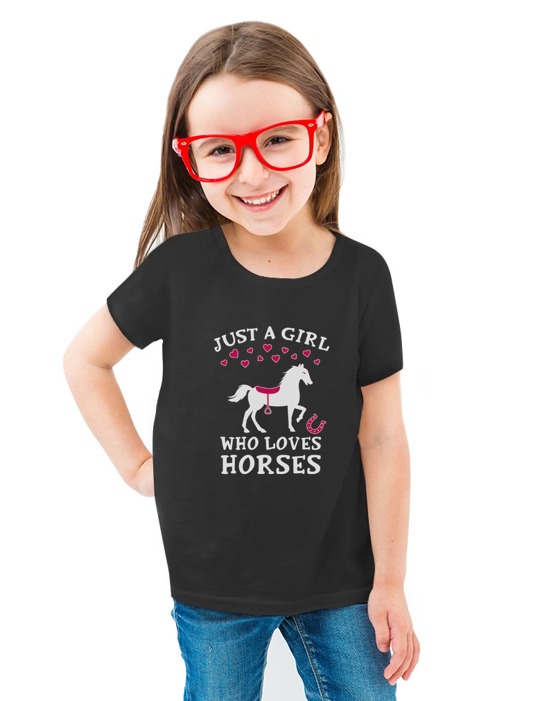 Gift For Horse Lover Girls/' Fitted Kids T-Shirt Rearing Horse Love Horses