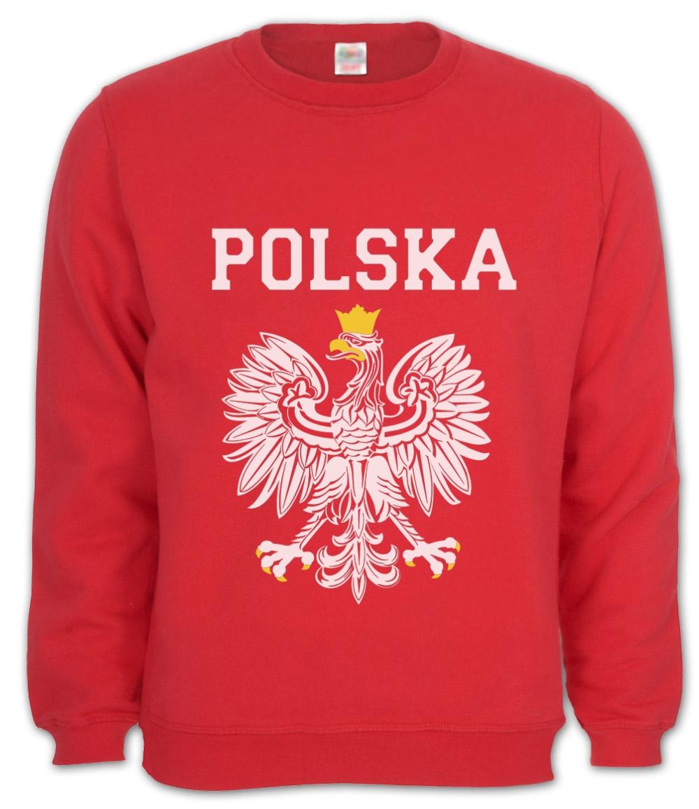 POLSKA EST WHITE EAGLE CREST Sweatshirt poland polish flag
