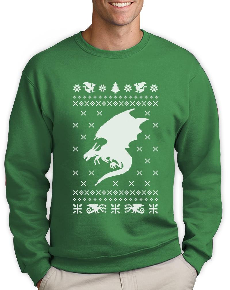 Big White Dragon Ugly Christmas Sweater Xmas Gift Sweatshirt Gift ...