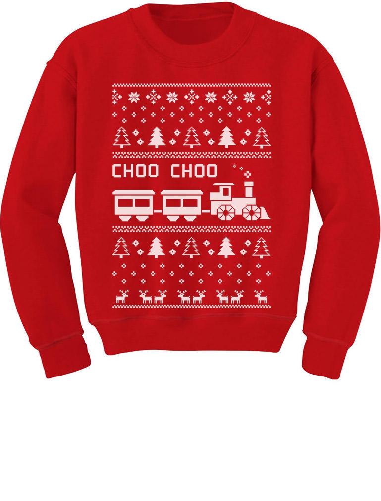 choo choo train ugly christmas children s sweater cute kids - Sweatshirt Design Ideas