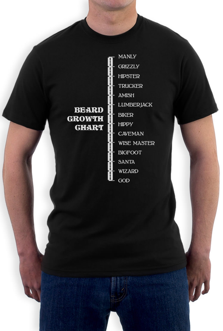 Details About Beard Growth Chart Gift Idea Funny Manly Scale T Shirt