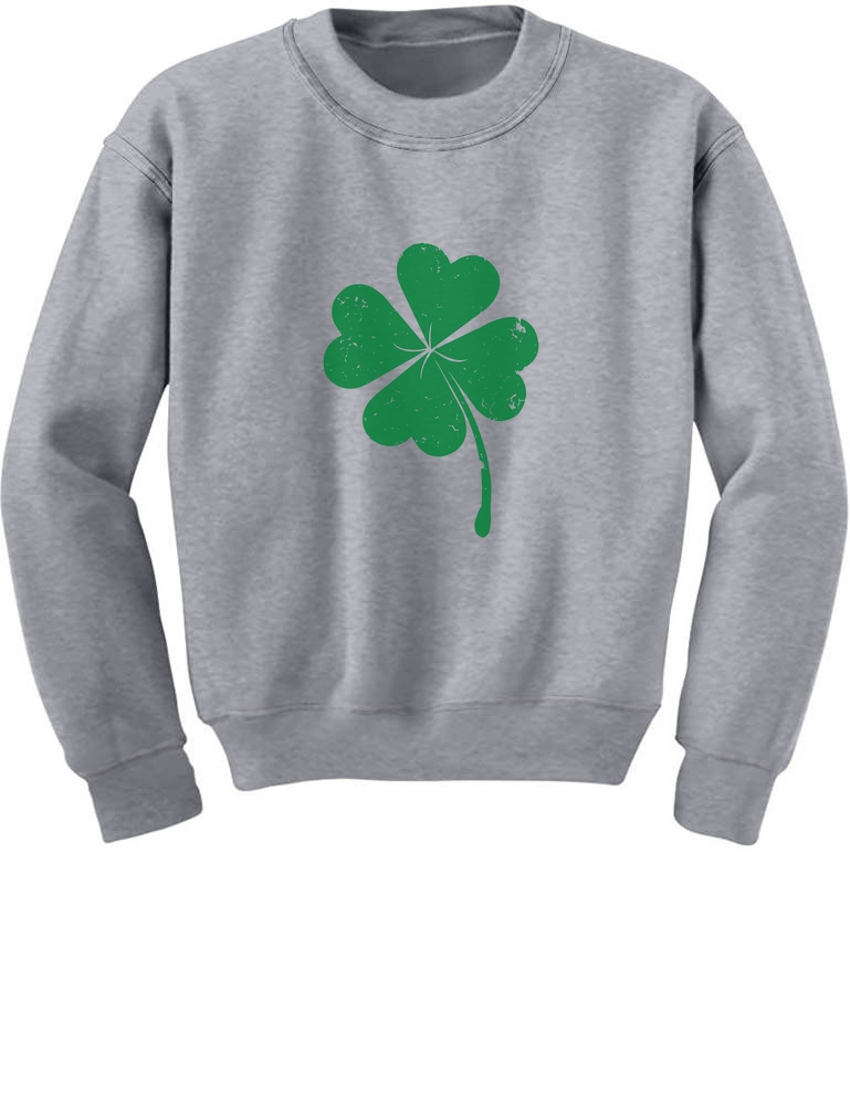 Faded Shamrock Green Clover Irish St.Patrick/'s Day Long sleeve kids T-Shirt Gift