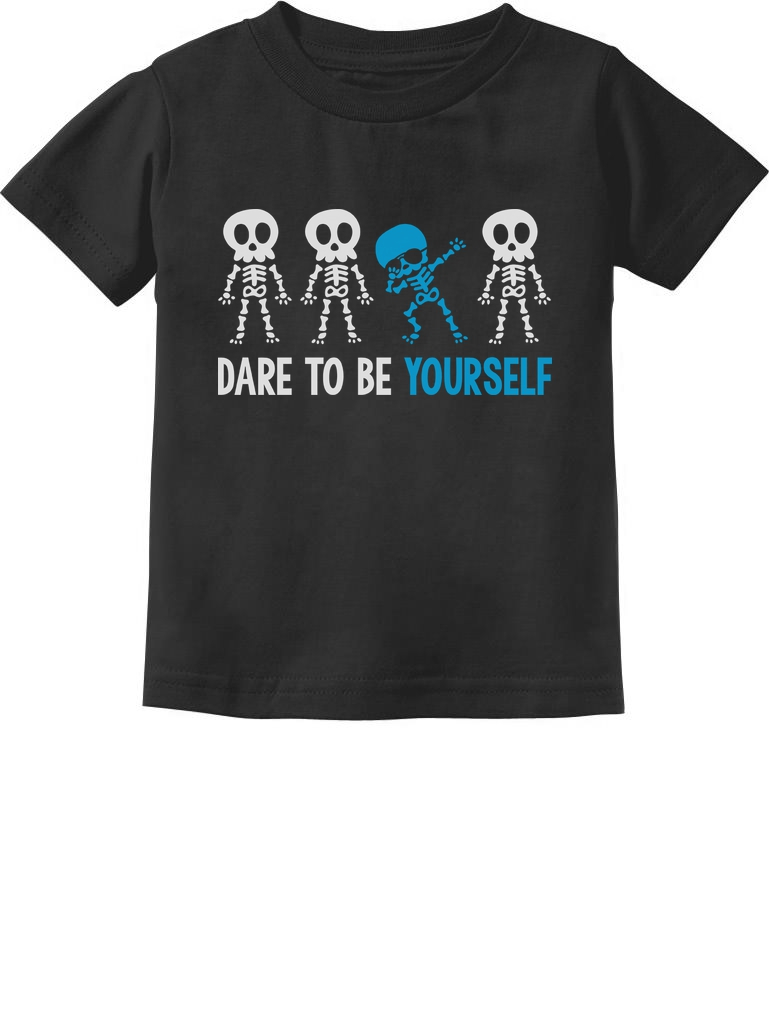 Autism Awareness Be Yourself Skeleton Dab Toddler//Kids Girls/' Fitted T-Shirt Dab