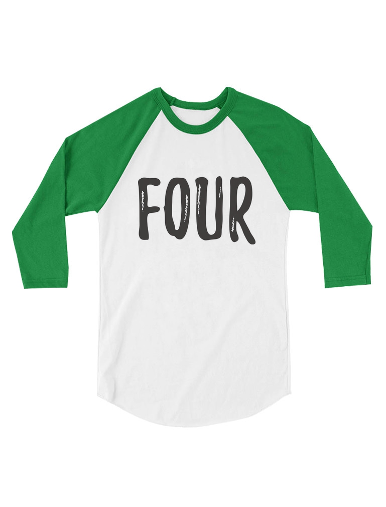 4th Birthday Gift For Four Year Old Child Toddler Raglan Youre Bidding On A Fine Kids T Shirt Made Of 100 Combed Cotton High Quality