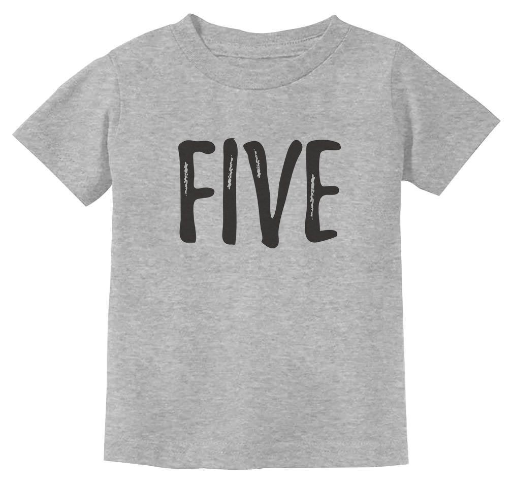 Flamingo 5th Birthday Gift for Five Year old Youth Kids T-Shirt 5 year old