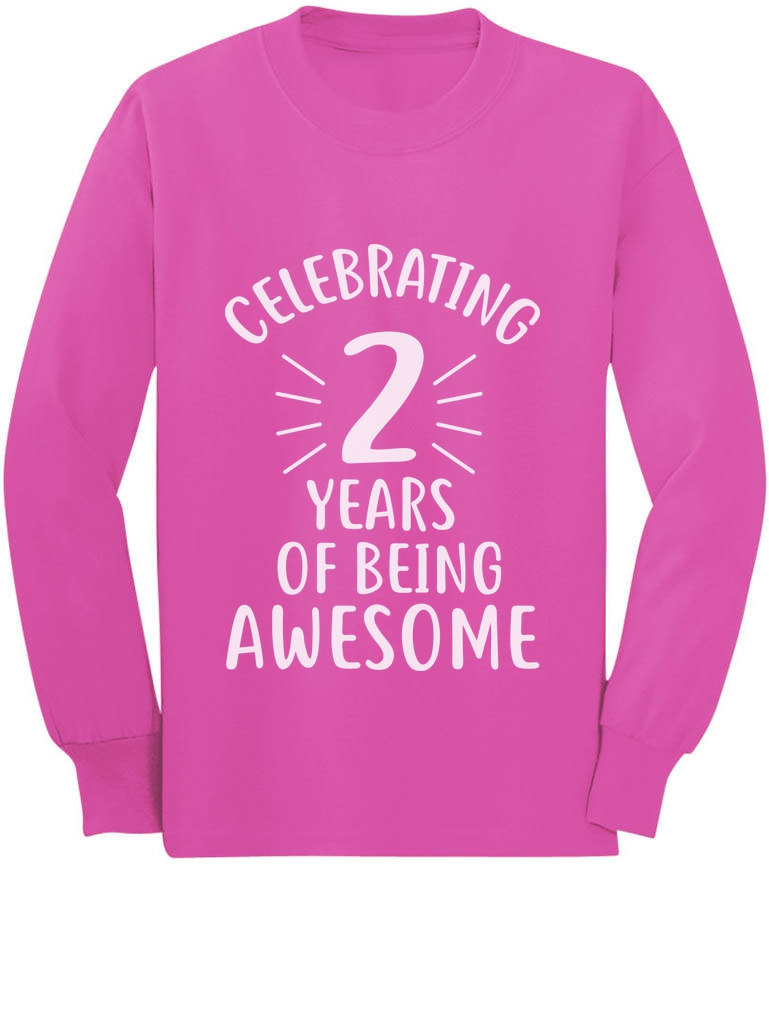Awesome Girls are Born in December Birthday Toddler//Kids Long Sleeve T-Shirt 4T Black
