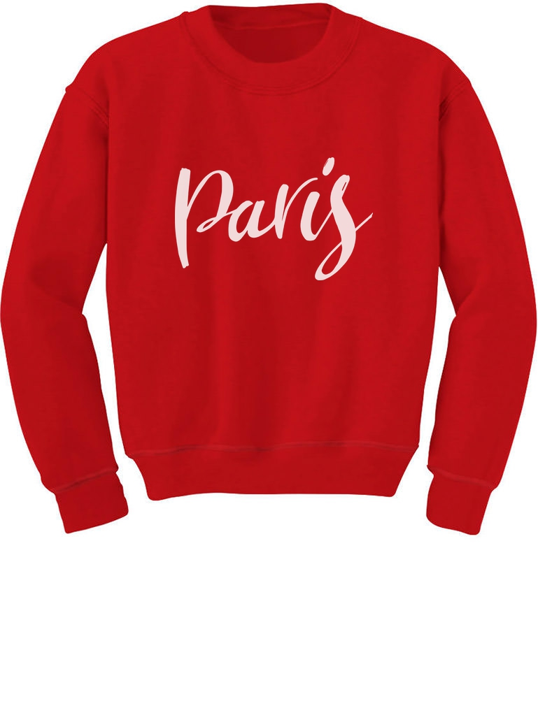 Eiffel Tower Paris Bastille Day French Patriot Youth Kids Long Sleeve T-Shirt