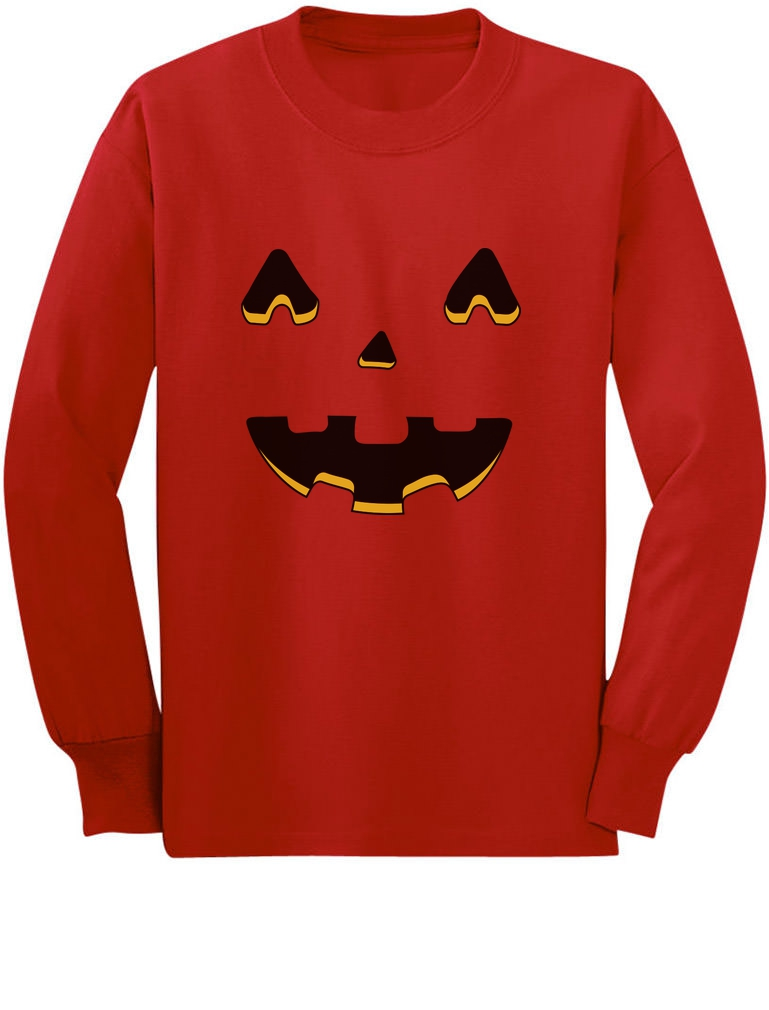 Jack O/' Lantern Scary Pumpkin Face Halloween Toddler//Kids Long sleeve T-Shirt