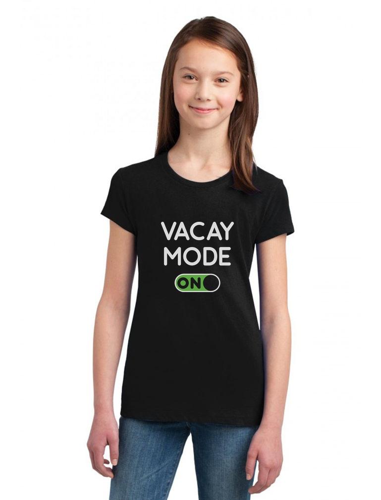 Vacay Mode Summer Fashion Pineapple Vacation Youth Kids T-Shirt Gift Idea