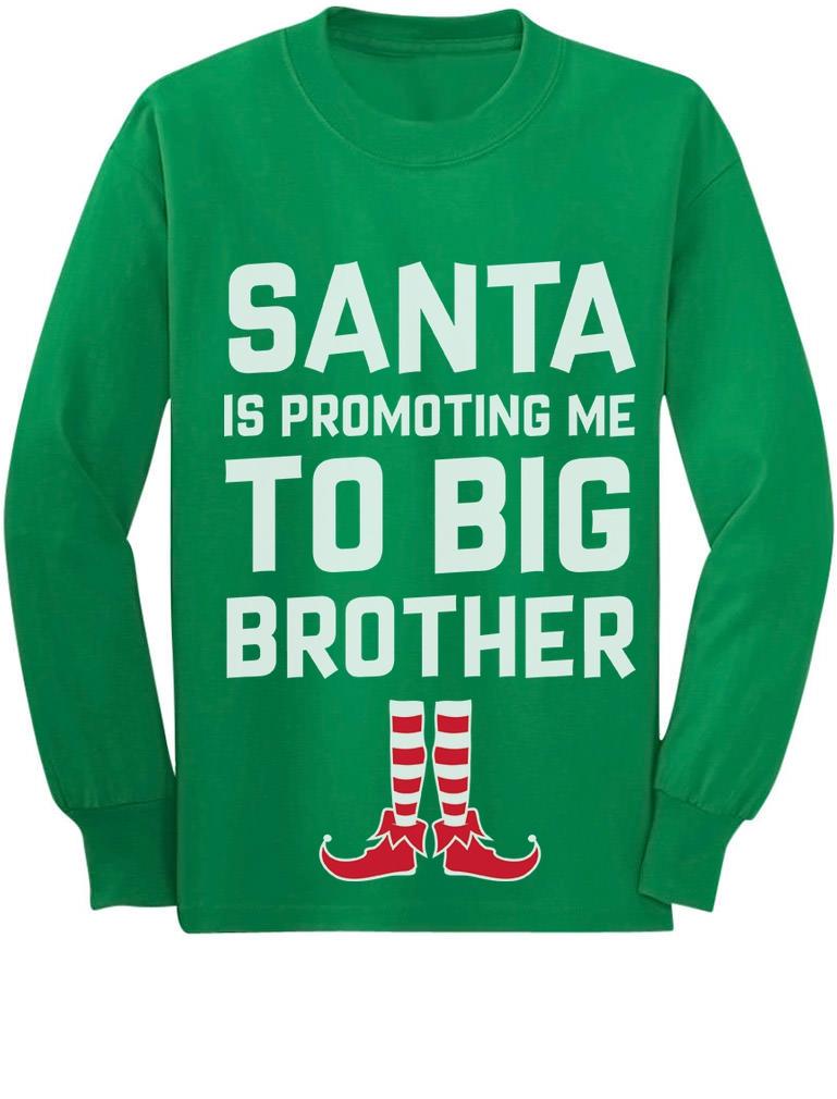 Big elf Christmas Brother Santa Season Big Brother Again Baby Announcement Santa Christmas Sweatshirt