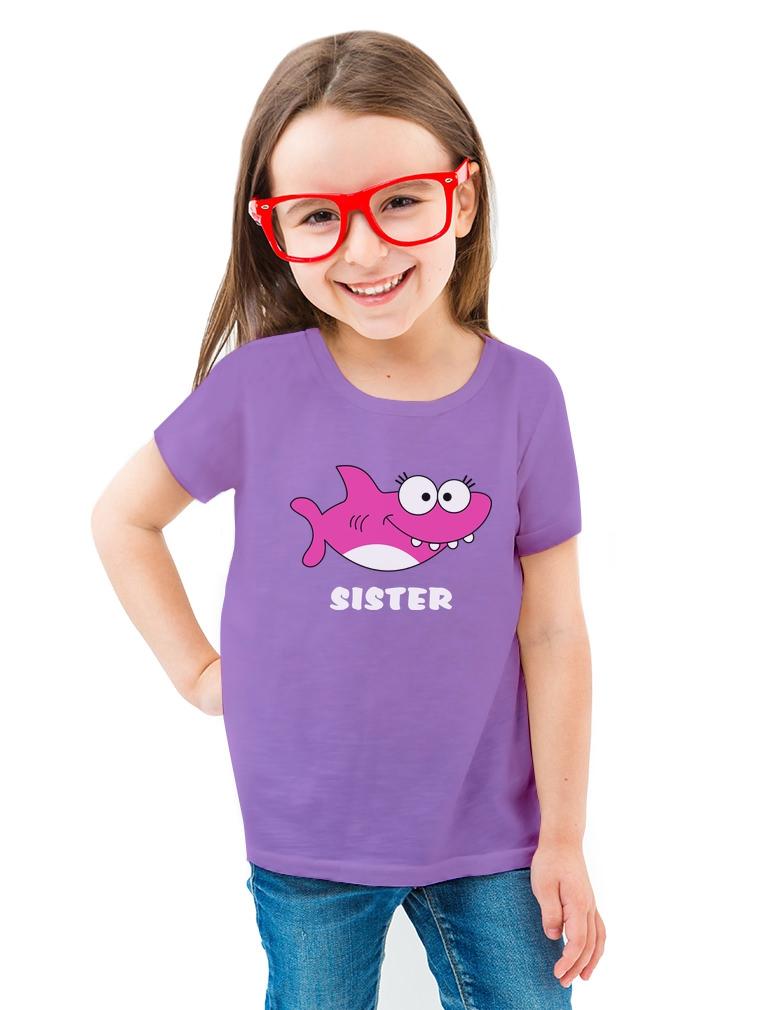 Sister Saurus Gift for Big Sister Girls T-Rex Toddler//Kids Girls Fitted T-Shirt