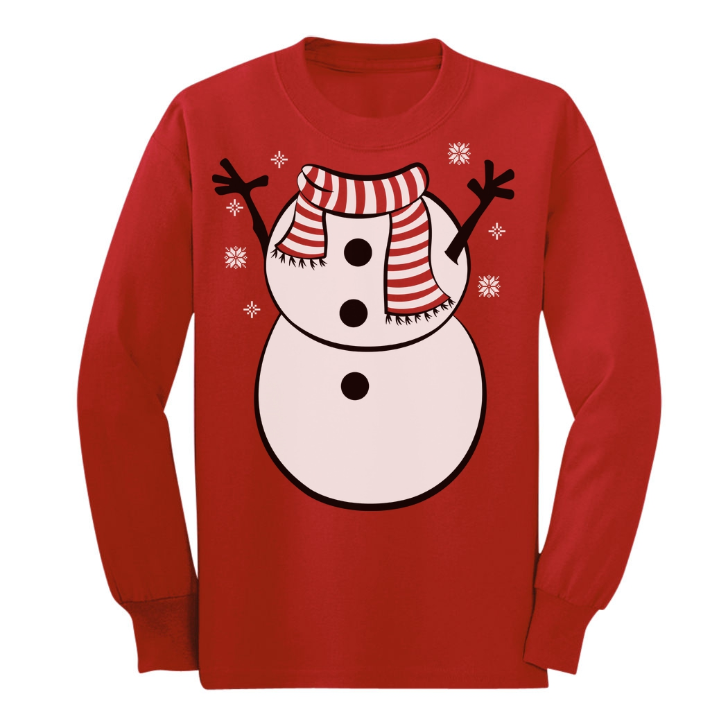 Christmas unicorn snowflakes Xmas Cute Outfit Youth Kids Long Sleeve T-Shirt