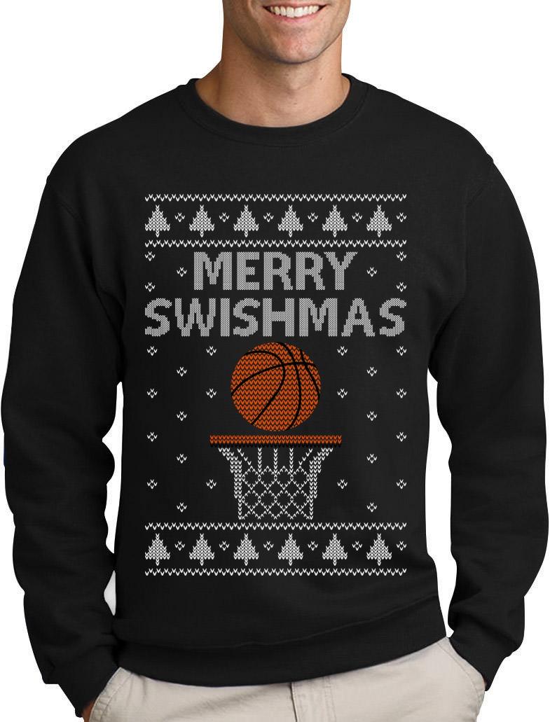 Christmas Ugly Sweater For Basketball Fans Sweatshirt Sport Merry Swishmas